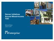 Denver Initiatives Around Mixed-Income TOD - Center for Transit ...