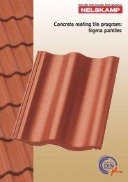 Concrete roofing tile program: Sigma pantiles - Nelskamp