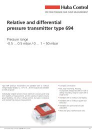 Relative and differential pressure transmitter type 694