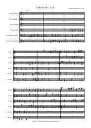 Fantasia No. 1 à 6