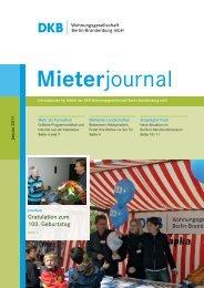 Mieterjournal der DKB Berlin-Brandenburg | Ausgabe  Januar 2011