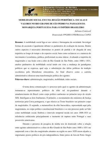 Adriano Comissoli - X Encontro Estadual de História – ANPUH-RS