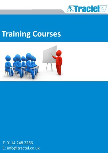 Tractel Training programme