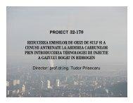 PROIECT 32-170 REDUCEREA EMISIILOR DE OXIZI ... - Prezentare