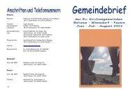Gemeindebrief PDF - Herzlich Willkommen bei der evangelischen ...
