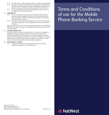 The Mobile Phone Banking Service - NatWest