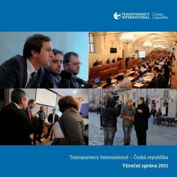 Transparency International – Česká republika Výroční zpráva 2011