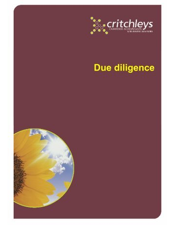 Due diligence - Critchleys