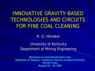 development of novel ultrafine sizing methods - Office of Fossil Energy
