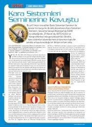 MSI Dergisi 89. Sayısı KSS Özel Haberi - Türk Savunma Sanayi Haber