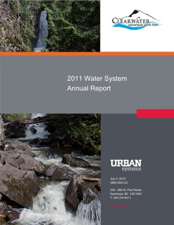 2011 Water System Annual Report - District of Clearwater