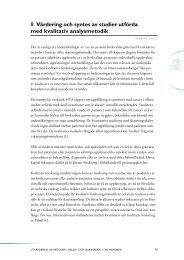 Kapitel 8. Värdering och syntes av studier utförda med ... - SBU