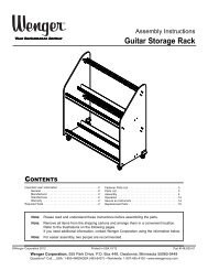Guitar Rack Assembly Instructions - Wenger Corporation