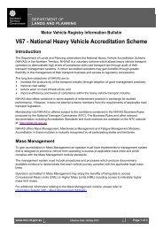 Motor Vehicle Registry Information Bulletin - Department of Transport
