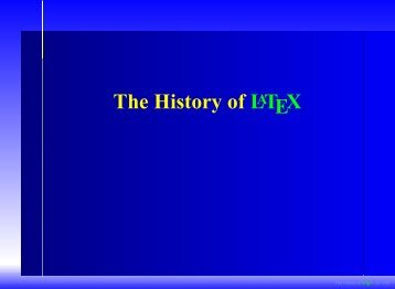 The History of LATEX