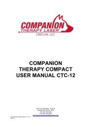 COMPANION THERAPY COMPACT USER MANUAL CTC-12 - Kruuse