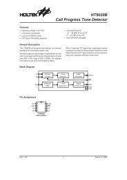 HT9020B - Call Progress Tone Detector