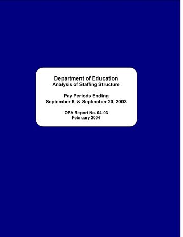 Department of Education - The Office of Public Accountability