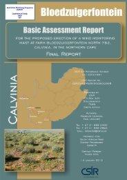 Farm Bloedzuigerfontein, Calvinia - CSIR