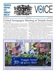 June 6 - Temple Israel of Great Neck