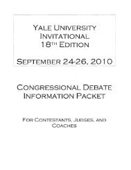 yale university invitational edition september 24~26, 2010