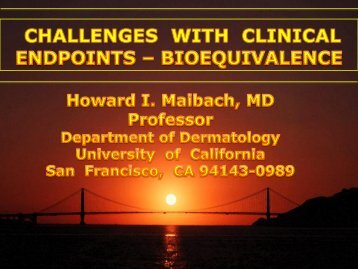 Challenges with Clinical Endpoints in Designing BE Studies - PQRI
