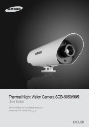 Thermal Night Vision Camera SCB-9050/9051 User Guide - Samsung