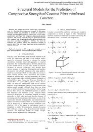Structural Models for the Prediction of Compressive Strength of ...