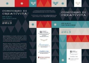 Page 1 Cocoso di CtivitÀ spazio interiore I edizione 2013 SPAZIO ...