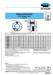 Hydraulikmutter mit Fettnippel (axial) - SCHAAF GmbH