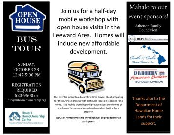 bus tour flyer 100912 - Hawaii HomeOwnership Center