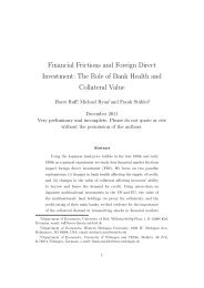 Financial Frictions and Foreign Direct Investment: The Role of Bank ...