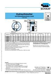 Hydraulikmutter mit Hydraulikanschluss (axial) - SCHAAF GmbH