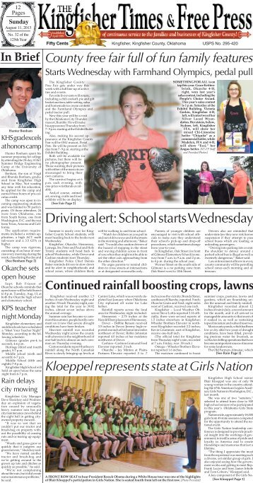 Pages 1-4. - Kingfisher Times and Free Press