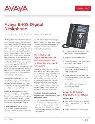 9408 Deskphone Fact Sheet - Avaya