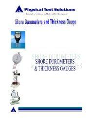 Shore Durometers and Thickness gauge - Cientec.com