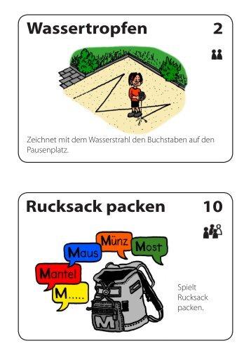 Wassertropfen 2 Rucksack packen 10