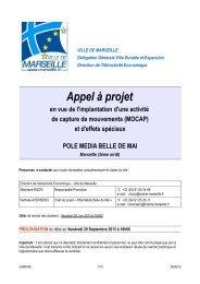 Découvrez l'appel à projet en détails - Ville de Marseille