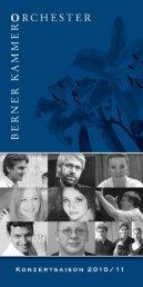 Programm Saison 2010/11 (PDF) - Berner Kammerorchester