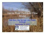 Verde River Hydraulic Flow Model
