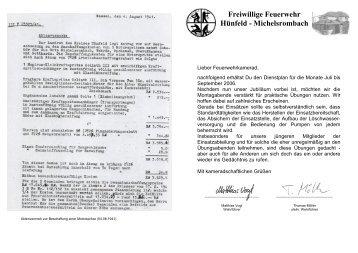 Dienstplan 3. Quartal 2006 - Feuerwehr Michelsrombach