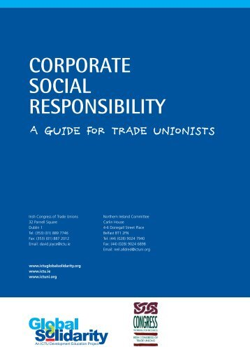 Corporate Social Responsibility - Irish Congress of Trade Unions