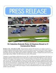 RJ Valentine Extends Rolex 24 Daytona Streak to