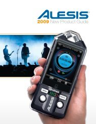 2009 New Product Guide - Alesis