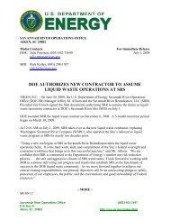 SR-09-12 - US Department of Energy Savannah River Operations ...