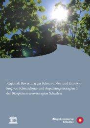 Regionale Bewertung des Klimawandels und Entwick- lung von ...