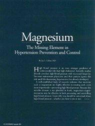 Magnesium The Missing Element in Hypertension ... - Encognitive.com