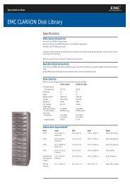 emc clariion dl720 spec sheet - Spectra