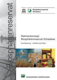 Leitbilder und Ziele / Kurzfassung - im Biosphärenreservat Schaalsee