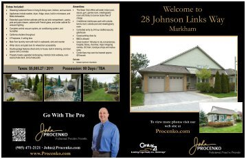 28 Johnson Links Way - John Procenko